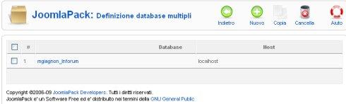 JoomlaPack database multiple