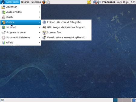 Il Desktop di Fedora 11