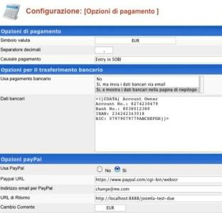 SOBI2 opzioni pagamento
