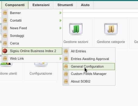 SOBI2 general configuration