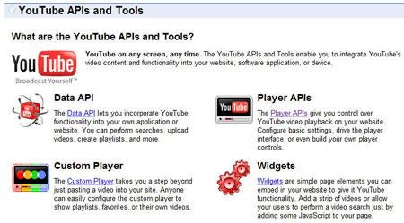 Le API e le utility di Youtube