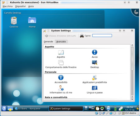 Kubuntu in VirtualBox 3.0