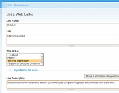 crea web link