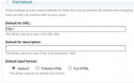 field defaults