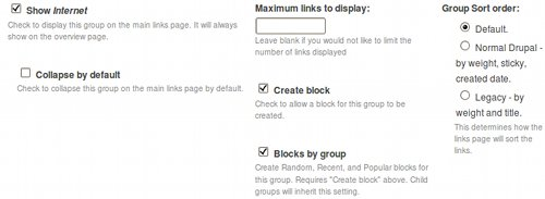 web links parametri categorie