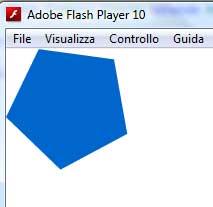 File esportato con il simbolo tratto da flash