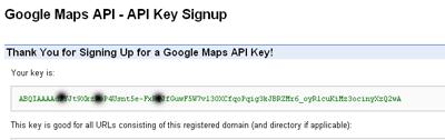 Google Maps API key registrazione
