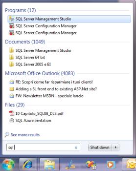 console di SQL Server