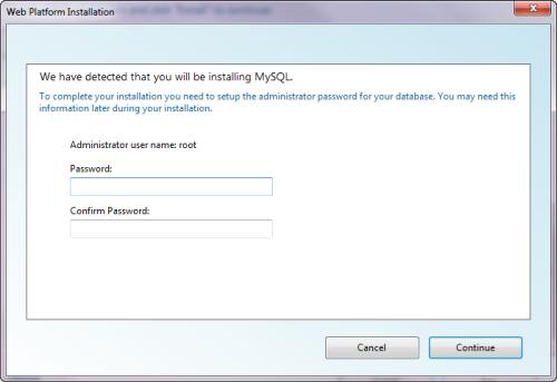 Password root di MySQL