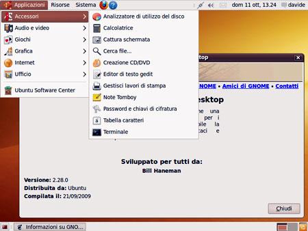 La scelta dell'ambiente desktop