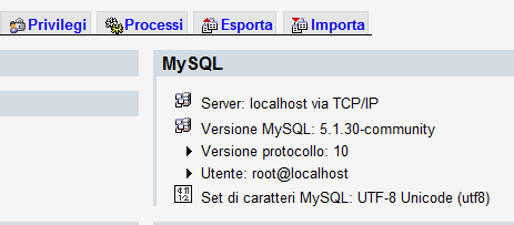 Esportare database di Joomla