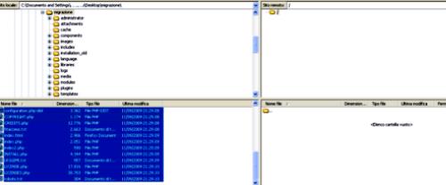 Carichiamo i file sul nuovo server