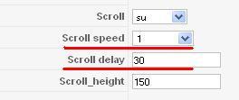 Velocità di scrolling