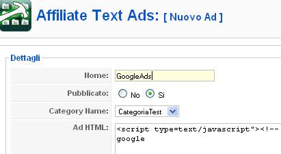 Creiamo un banner AdSense
