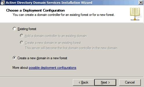 Schermata principale del Wizard