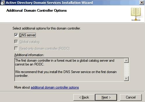 Installare il DNS