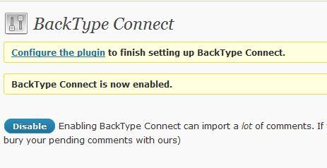 Attivazione BackType