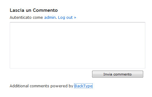 Additional comments powered by BackType