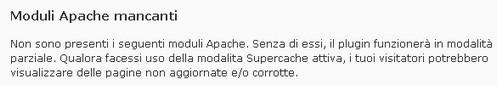 Moduli Apache mancanti
