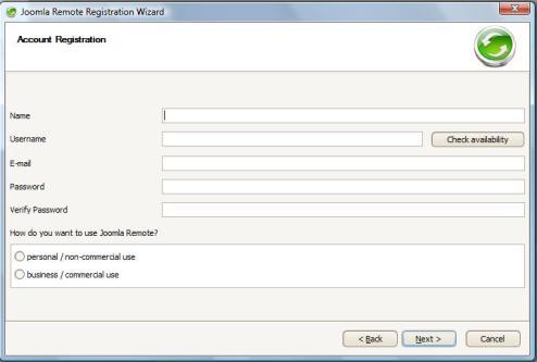Joomla Remote registration