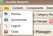 Le voci di menu di Joomla Remote