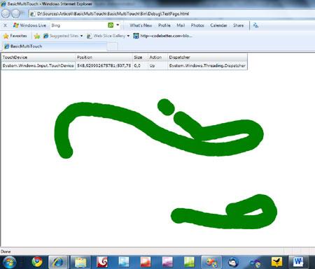 Analisi dei principali eventi della classe System.Windows.Input .Touch