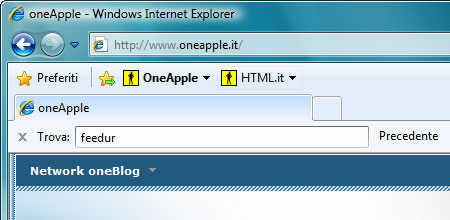 Una Web slice aggiornata (a sinistra) e una no (a destra)