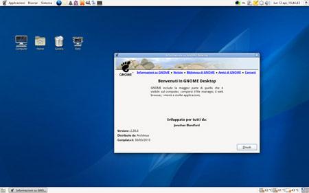 l Desktop di Gnome 2.30