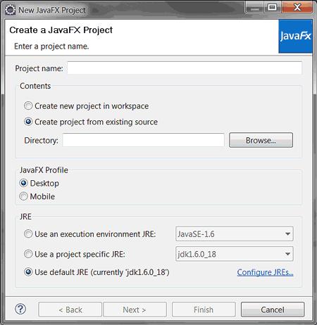 Creare un progetto JavaFX