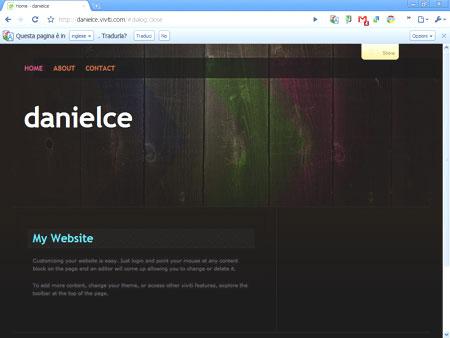 Viviti, un sito web di esempio
