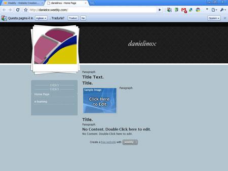 Weebly, un sito web di esempio