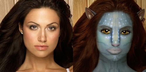 Trasformazione di un volto in stile Avatar