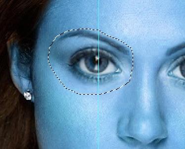 Selezione del contorno degli occhi