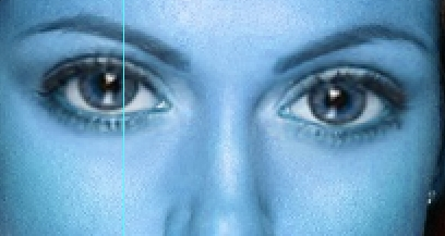 Applicazione effetto su entrambi gli occhi