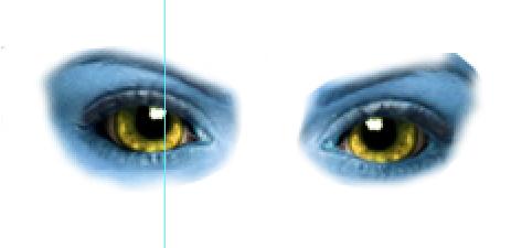 Posizionamento degli occhi Navi sul volto della modella