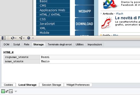 Storage Tab Opera