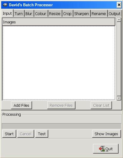 Anteprima del David's Batch Processor