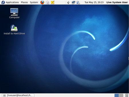 Figura 1: L'ambiente desktop Gnome di Fedora 13