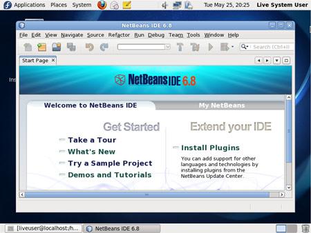 Figura 10: L'IDE Netbeans di Fedora 13