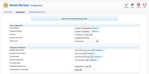 Akeeda Backup configurazione