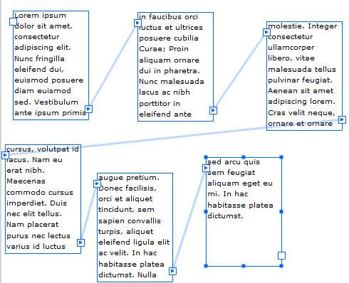 Spostare campi di testo collegati