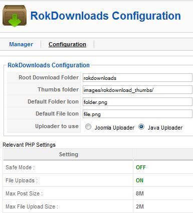 Rokdownloads Configuration