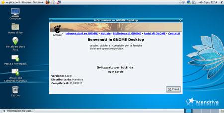 Figura 3: Il nuovo desktop di Mandriva Spring 2010.1