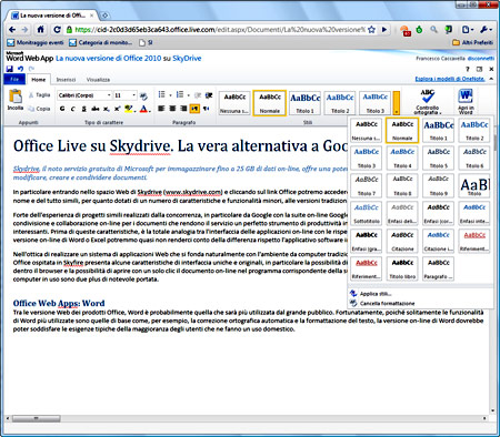 Figura 1: Office Web Apps: Word