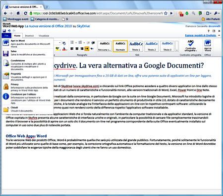 Figura 3: Office Web Apps: Word