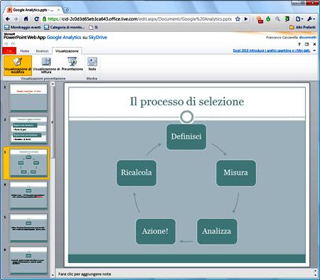 Figura 5: Office Web Apps: Powerpoint