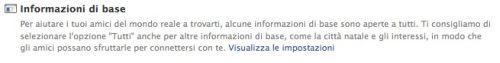condivisione dati Facebook