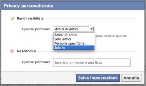 Privacy personalizzata