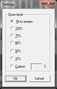 Pannello per lo zoom sull'emulatore