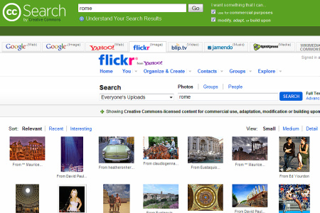 Flickr utilizzato all'interno di Creative Commons
